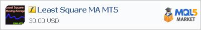 Купить индикатор Least Square MA MT5 в магазине систем алготрейдинга