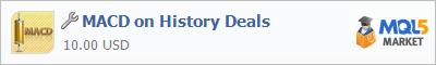 Купить приложение MACD on History Deals в магазине систем алготрейдинга